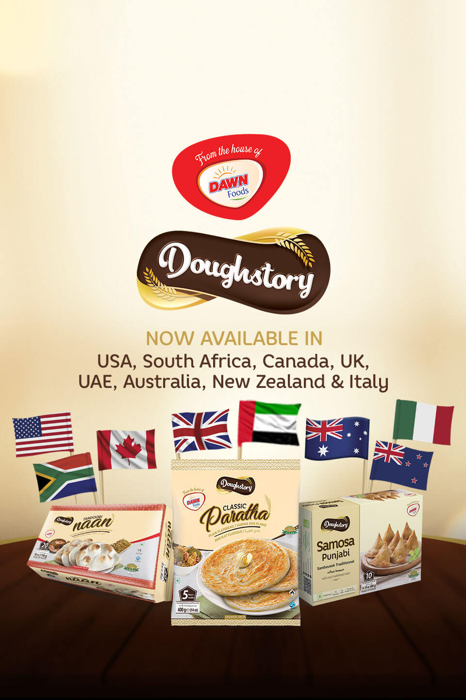 Doughstory is now available in USA, Canada, UK, Australia, New Zealand, South Africa, Italy and UAE